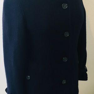 Aigle Jackets & Coats - AIGLE Navy Blue Peacoat / Casual Coat Size Small